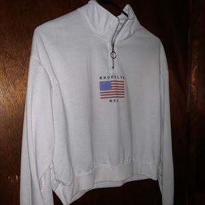 Woman Quarter zip cropped jacket